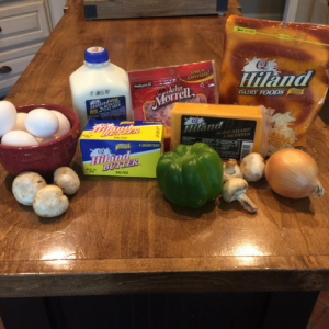 Baked Ham and Cheese Omelet Ingredients