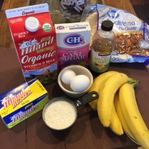 Banana Cream Pie Ingredients