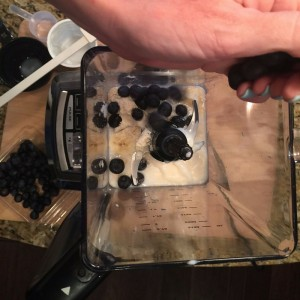 Blueberry Protein Shake Step 1