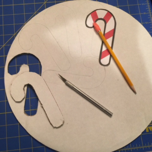 Candy Cane Ornaments Step 1