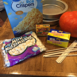 Candy Corn Crispy Treats Ingredients