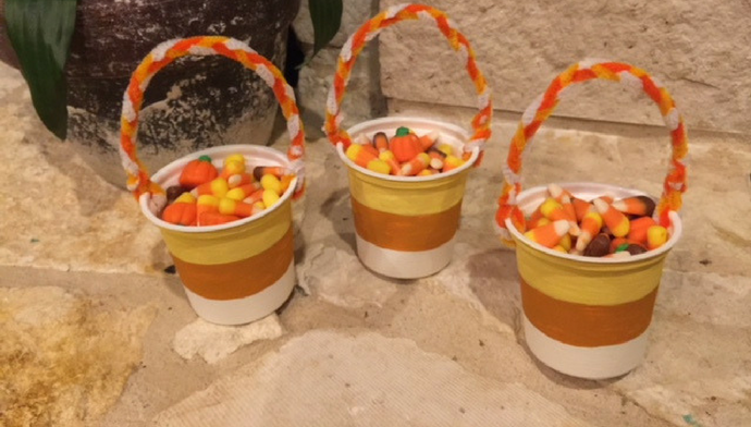 Candy Corn Treat Cups