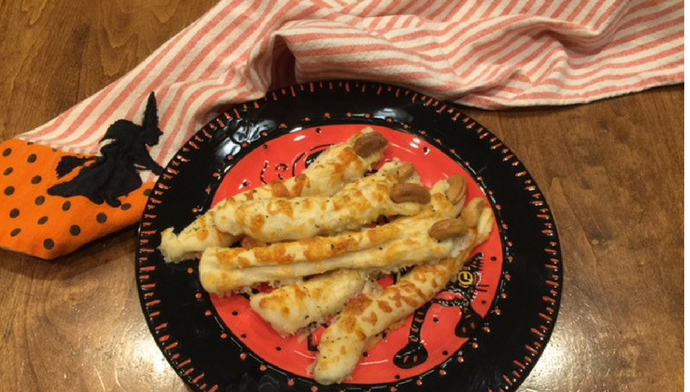 Cheesy Witch Finger Breadsticks
