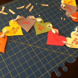 Conversation Heart Banner Step 5