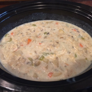 Creamy Chicken and Wild Rice Soup Step 6