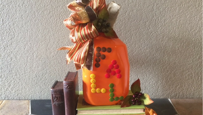 DIY Harvest Pumpkin Button Pumpkin for Fall