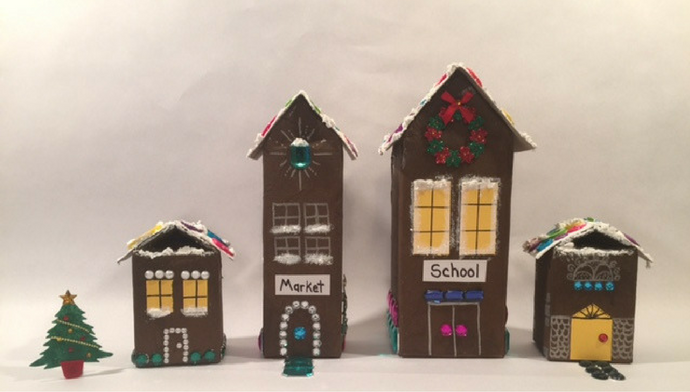 diy-milk-carton-holiday-village