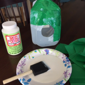 DIY Milk Jug Birdhouse Step 2