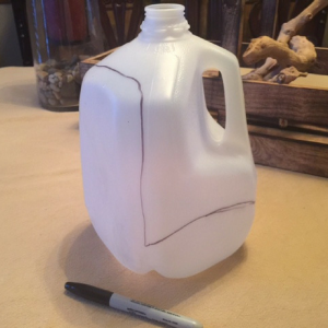 DIY Milk Jug Sandwich Container Step 1