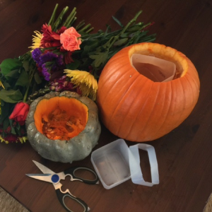 diy-pumpkin-flower-vases-step-1