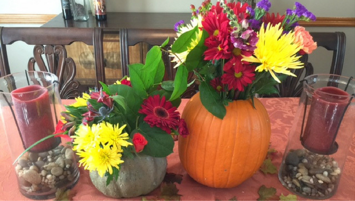 diy-pumpkin-flower-vases