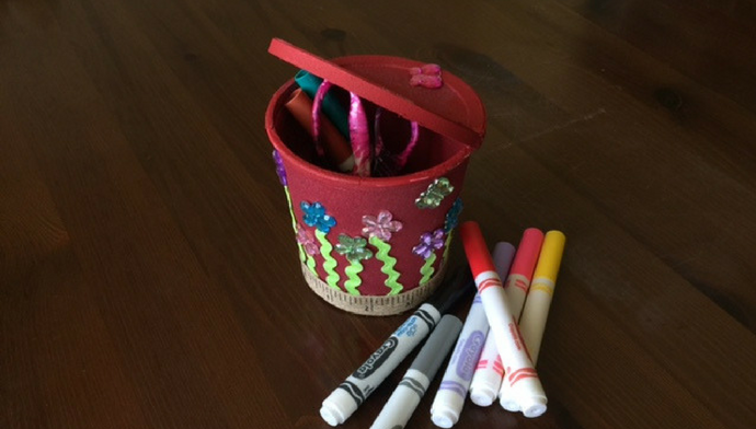 DIY School Supply Holder