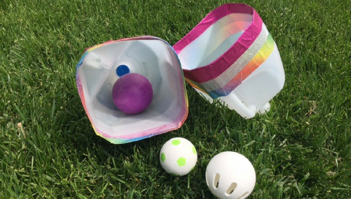 Easy Milk Jug Ball Catcher Craft