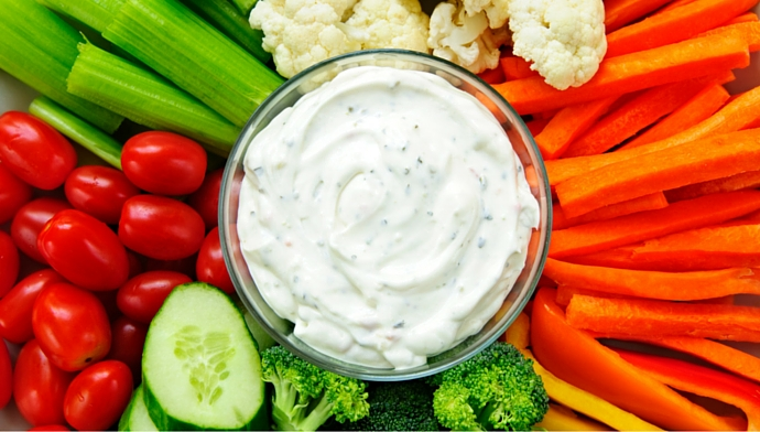Eat Your Vegetables Day with Hiland Dairy Dip