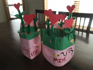 Finished Flower Garden Valentine Box