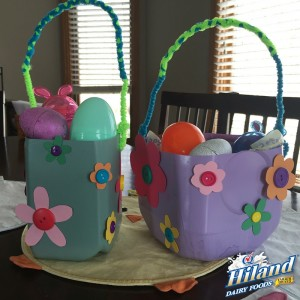 Finished Milk Jug Easter Basket