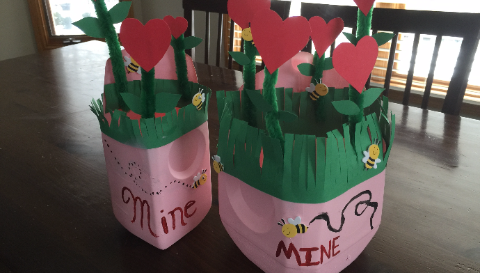 Flower Garden Valentines Day Box
