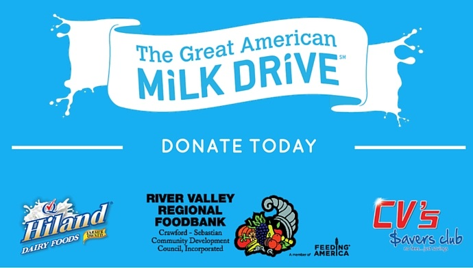 Helping The River Valley Food Bank Provide Milk To Those In Need