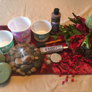 Holiday Centerpiece Materials