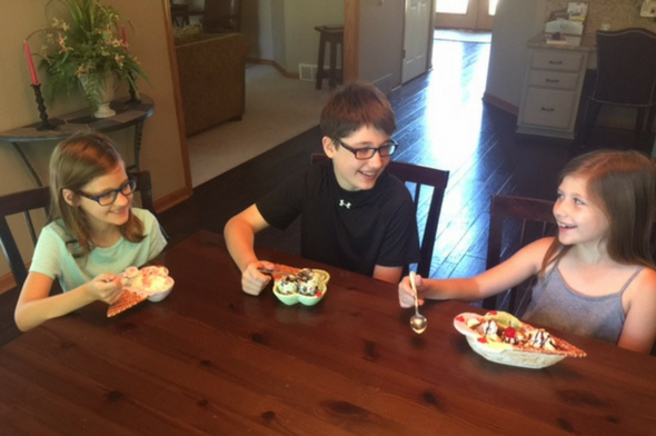 Kids Enjoying National Creative Ice Cream Flavors Day