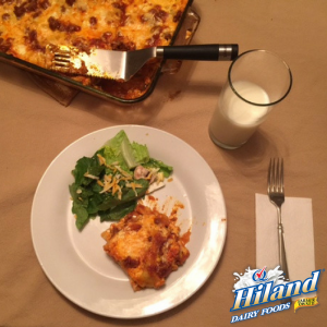 Lasagna With Tossed Salad