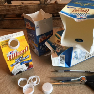 Milk Carton Storage Boxes Step 1