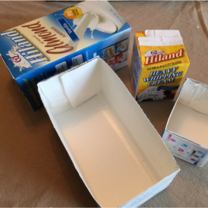 Milk Carton Storage Boxes Step 3