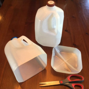 Milk Jug Ball Catch Step 1