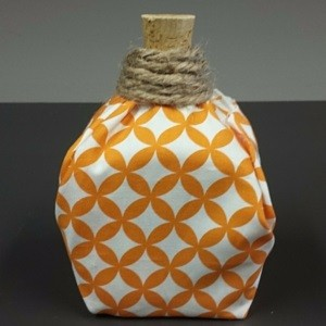 Milk Jug Fabric Pumpkin Creation 3