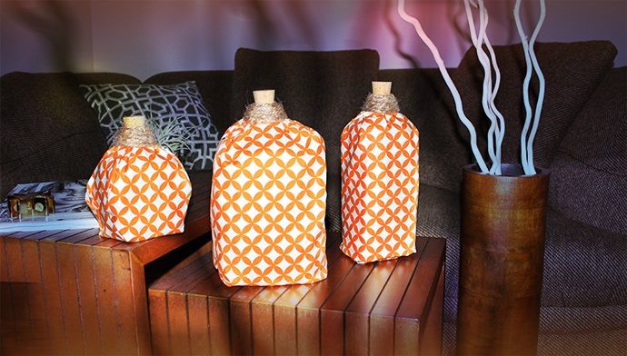 Milk Jug Fabric Pumpkins
