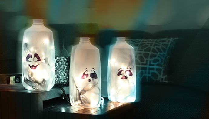 Milk Jug Ghost Lantern