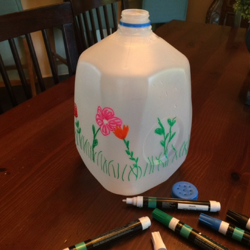 how to make a watering can from a milk jug