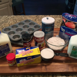 Mini Donut Muffin Ingredients