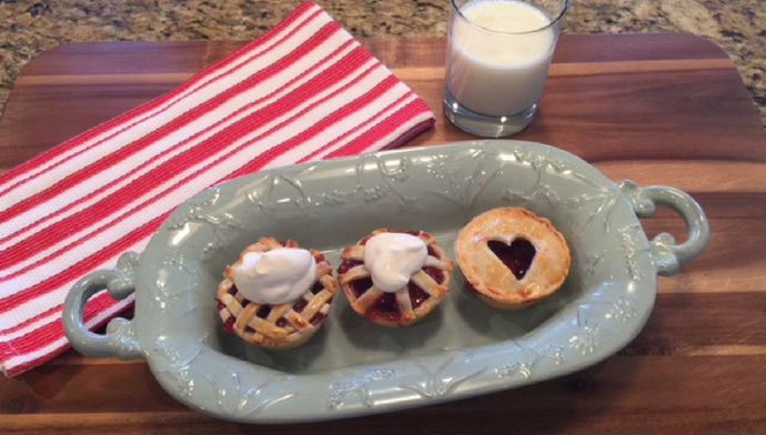 Miniature Cherry Pie Recipe for National Cherry Pie Day