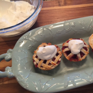 Miniature Cherry Pies With Whipped Cream Step 7