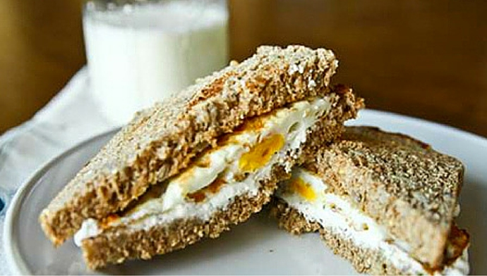 Protein-Packed Herbed Cream Cheese And Egg Sandwich