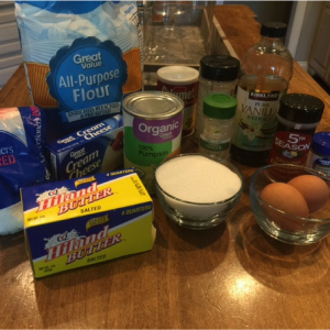 Pumpkin Spice Cookie Ingredients