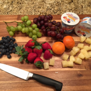 Rainbow Fruit Platter Ingredients