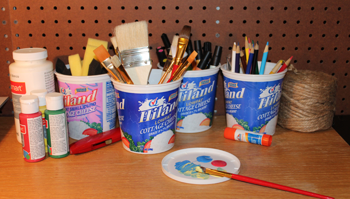 Repurpose Empty Hiland Dairy Containers
