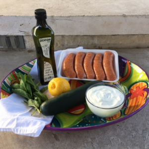 Sausage Kebabs With Cucumber Yogurt Dip Ingredients