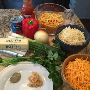 Spicy Corn Dip Ingredients