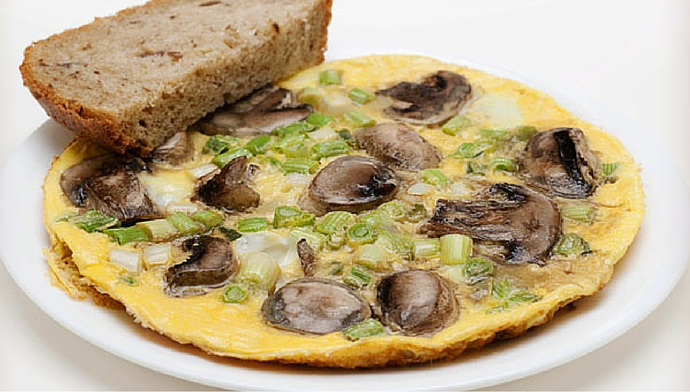 The Savory Side of Protein - Onion Mushroom Cheese Omelet