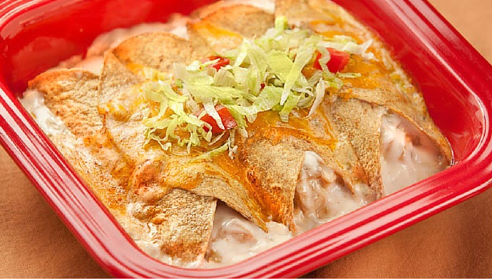 Light Sour Cream Chicken Enchiladas